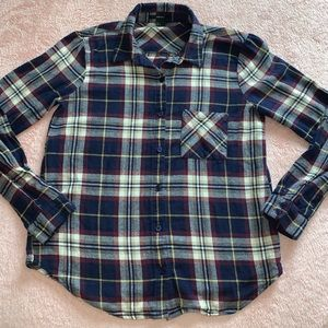 Forever 21 Plaid Long Sleeve Shirt